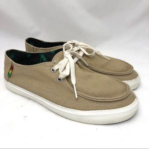 Vans Surf Siders tan canvas lace up men's 6.5